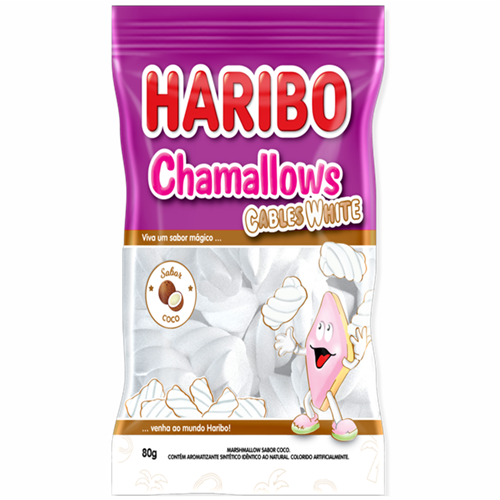 MARSHMALLOW HARIBO CABLE WHITE 80G