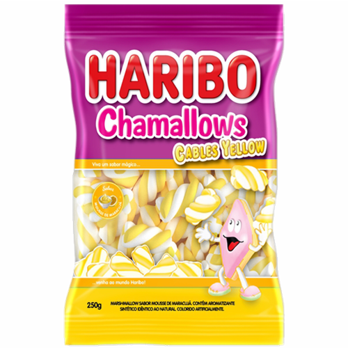 MARSHMALLOW HARIBO CABLE YELLOW 250G