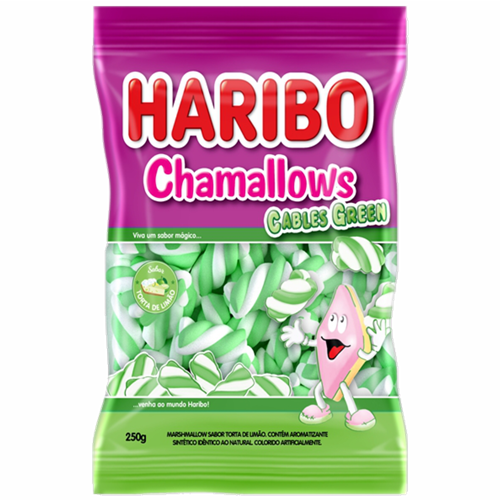 MARSHMALLOW HARIBO CABLE GREEN 250G