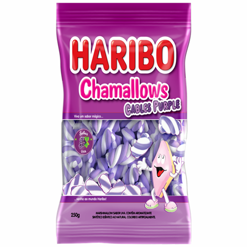 MARSHMALLOW HARIBO CABLE PURPLE 250G