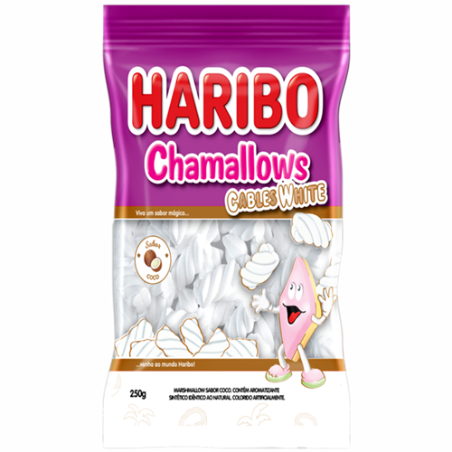 MARSHMALLOW HARIBO CABLE WHITE 250G