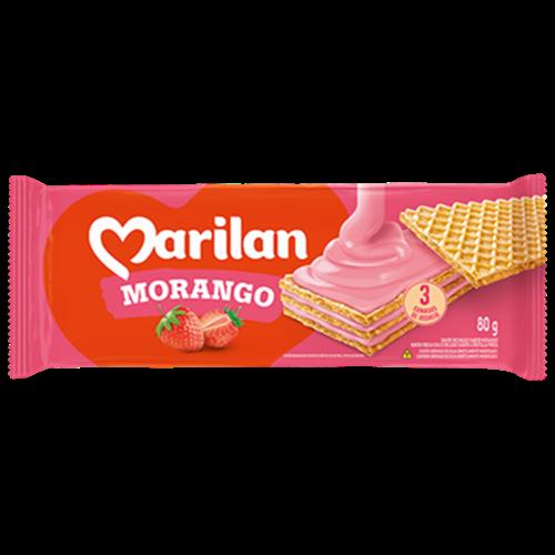 BISC MARILAN WAFER MORANGO 80G