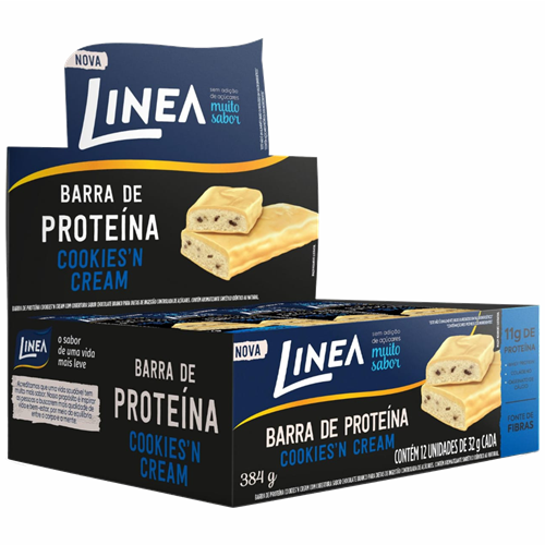BARRA LINEA PROTEINA COOKIE CREAM 12X32G