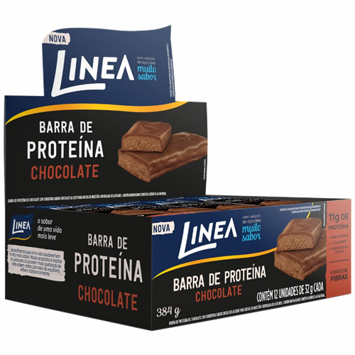 BARRA LINEA PROTEINA CHOCOLATE 12X32G