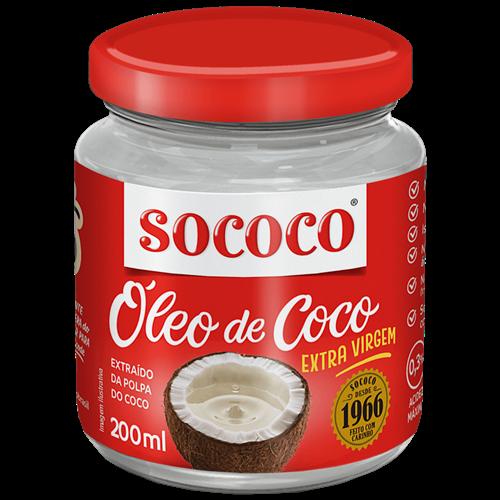 OLEO DE COCO SOCOCO EXTRA VIRGEM 200ML
