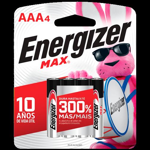 PILHA ENERGIZER MAX-SM-PALITO AAA4 C/4