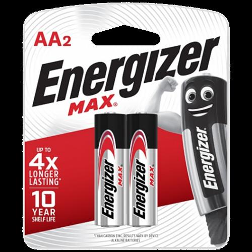 PILHA ENERGIZER MAX-SM-PEQUENA AA2 C/2