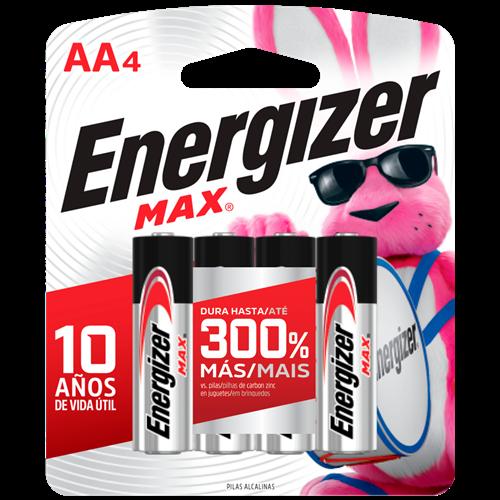 PILHA ENERGIZER MAX-SM-PEQUENA AA4 C/4
