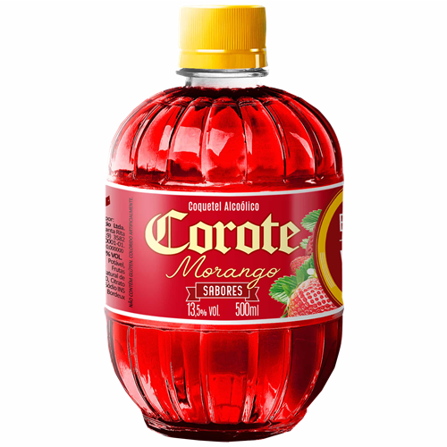 COQUETEL COROTE MORANGO 500 ML PET