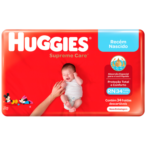 FRA HUGGIES SUP CARE MEGA RN C/34