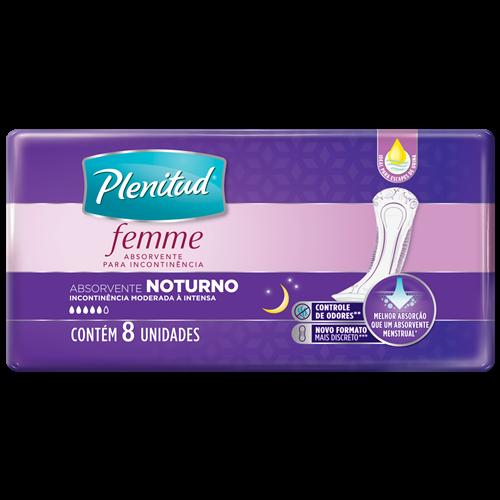 ABSORVENTE PLENITUD FEMME NOTURNO COM 8UN