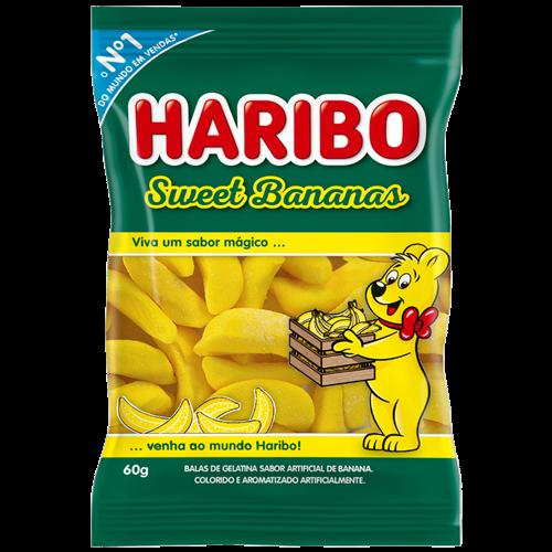 BALA DE GELATINA HARIBO SWEET BANANAS 60G