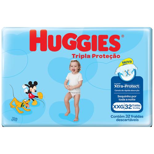 FRA HUGGIES TRIPLA PROT MEGA COBER XXG C/32