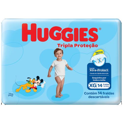 FRA HUGGIES TRIPLA PROT JUMBINHO XG C/14